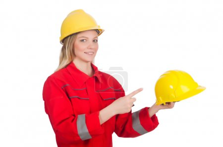 Woman in industrial concept