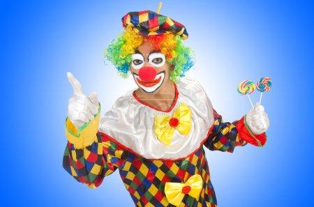 Clown with lollipops
