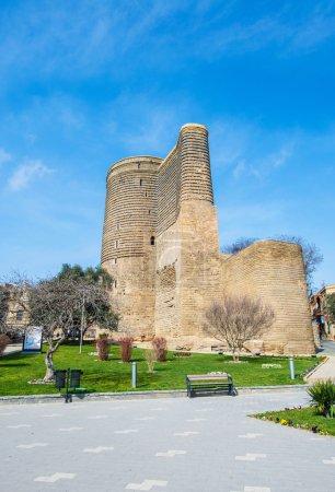Ancient Maiden Tower in Baku, Azerbaijan
