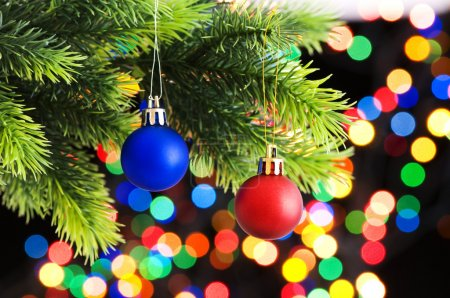 Photo pour Décoration de Noël sur le sapin - image libre de droit