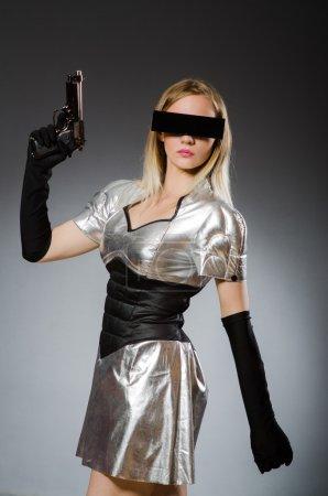 woman in futuristic concept