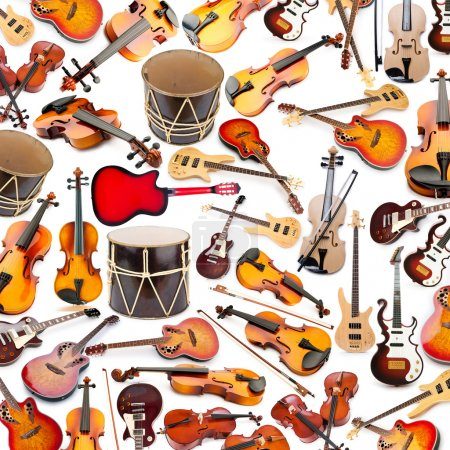 Photo for Background made of many musical instruments - Royalty Free Image