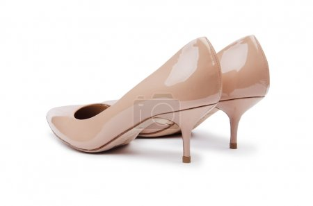 Photo for Woman shoes isolated on the white background - Royalty Free Image