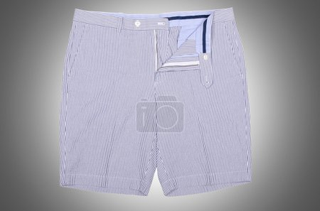 Photo for Male casual shorts   on the grey  background - Royalty Free Image
