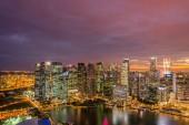 Skysrapers in Singapore at hight