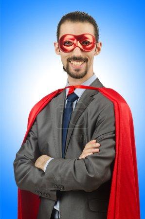 Funny Superman businessman