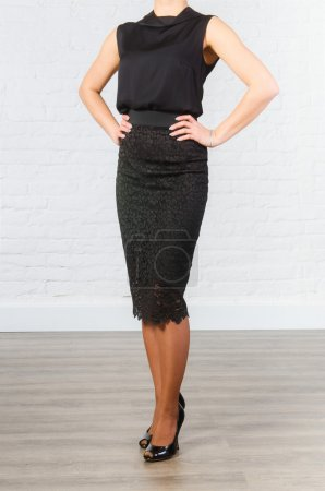 Female black office clothing