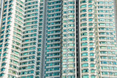 Photo for Hign density residential building in Hong Kong - Royalty Free Image