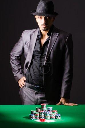 Man playing in casino