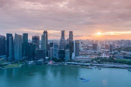 Photo pour Panorama de Singapour skyline centre-ville - image libre de droit