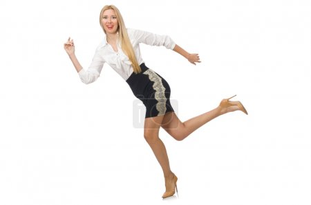 Woman in classic office clothing