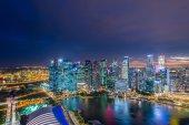 Panorama of Singapore downtown