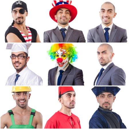 Collage de plusieurs visages d'un même modèle