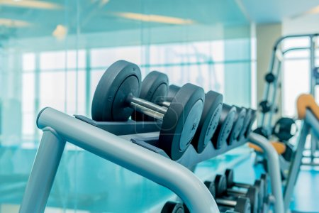Photo for Modern gym with various sports equipment - Royalty Free Image