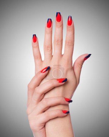 Photo pour Concept art ongles des mains - image libre de droit