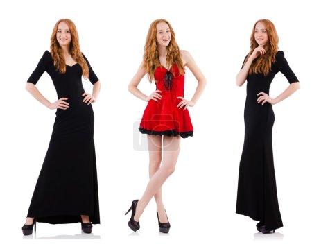 Reihe von Fotos im Modekonzept