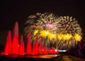 Feuerwerk in Victory park