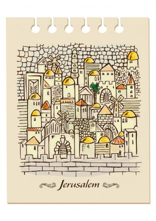 Hand drawing Jerusalem