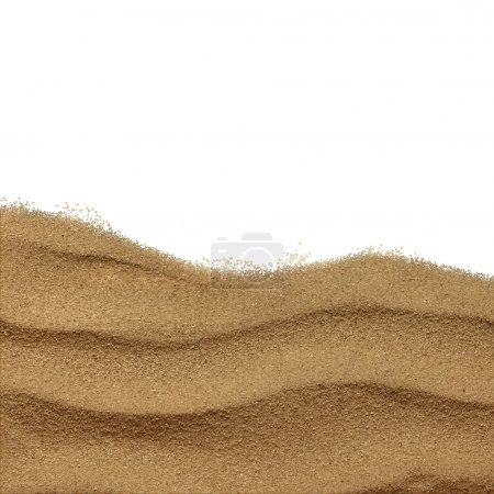 Photo for The sand scattering isolated on white background. Close up - Royalty Free Image