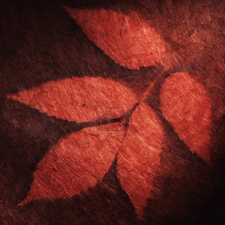 Paper background with leaves