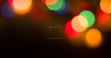 Photo pour Lumières floues bokeh fond de fête de nuit de Noël pour votre conception - image libre de droit