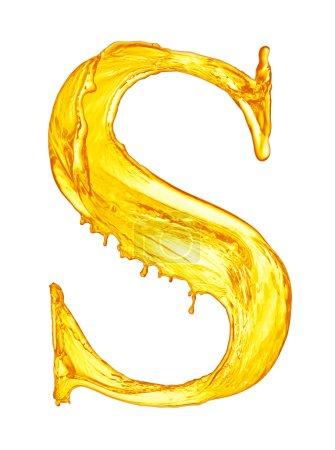 Photo pour Une lettre de S de jus d'orange splash alphabet - image libre de droit