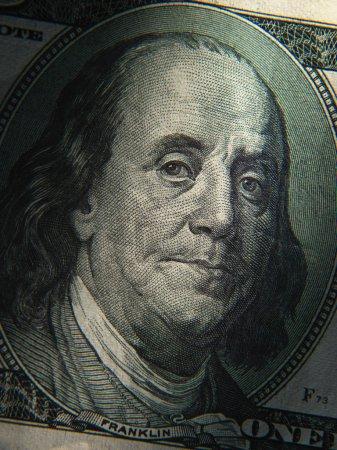 Benjamin Franklin's portrait on banknote