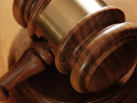 Judge gavel on background