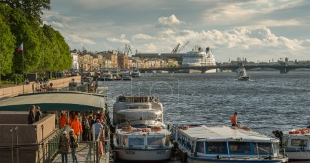 Ocean liner in St. Petersburg