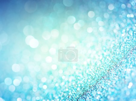 Abstract blue lights background .