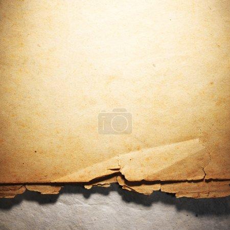 Photo pour Vieux vieux papier vintage. Fond ou texture d'origine. Gros plan - image libre de droit
