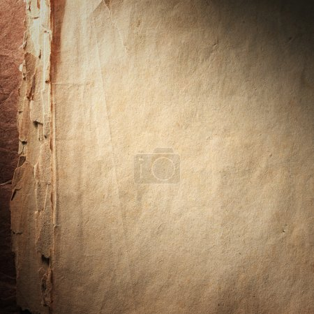 Photo for Vintage aged old paper. Original background or texture. Close up - Royalty Free Image