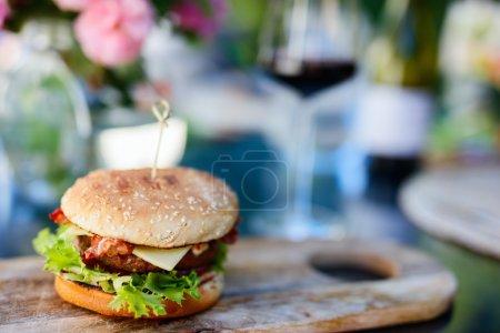 Delicious Homemade burger