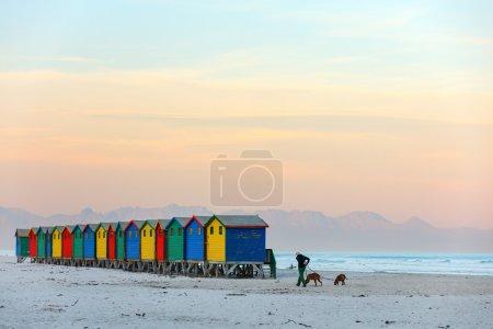 Muizenberg beach near Cape Town in South Africa