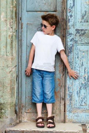 Outdoors boy portrait