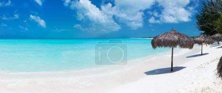 Beautiful Caribbean beach panorama