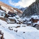 Beautiful winter landscape of Japan Nagano area...