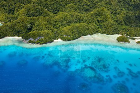 Photo for Beautiful view of Palau tropical islands and Pacific ocean from above - Royalty Free Image