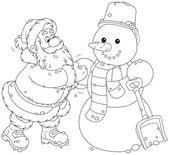 Santa a sněhulák