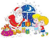 Santa a děti