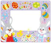 Velikonoční hranice s králíčky