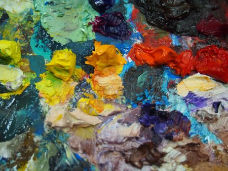 Paints of artist
