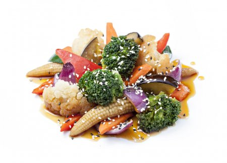 vegetables with sauce