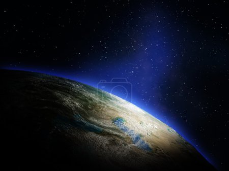 Photo for Planet Earth from space. Elements of this image furnished by NASA - Royalty Free Image