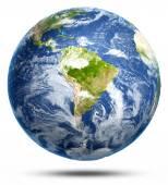 Jižní Amerika bílé izolované