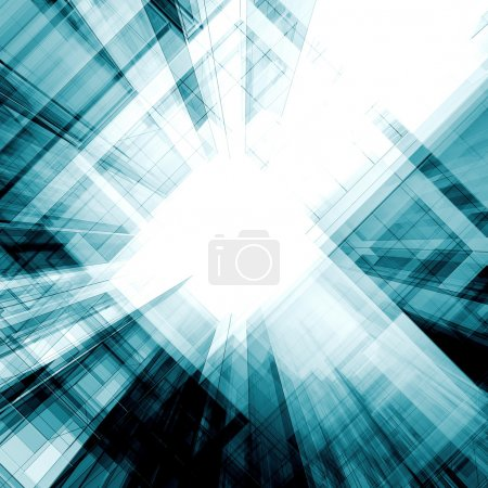 Photo for Abstract interior. Architecture design and model my own - Royalty Free Image