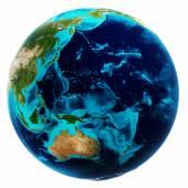 Světová mapa bílá izolované