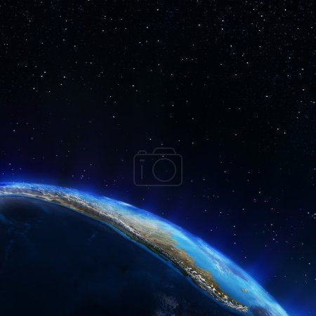 Photo pour L'Amérique du Sud. éléments de cette image fournie par la nasa - image libre de droit