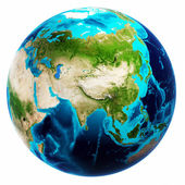 Earth mapa bílé izolované
