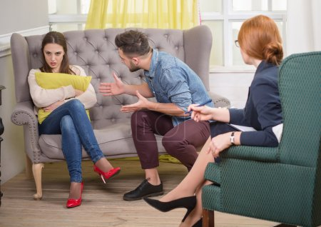 Young Couple at the psychotherapist